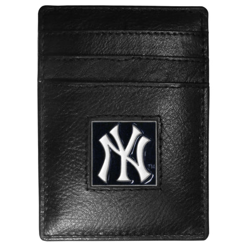New York Yankees Leather Money Clip/Cardholder Packaged in Gift Box