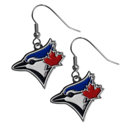 Toronto Blue Jays Chrome Dangle Earrings