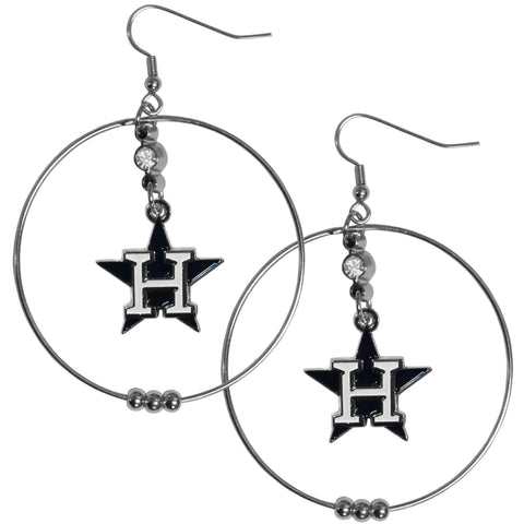 Houston Astros 2 Inch Hoop Earrings