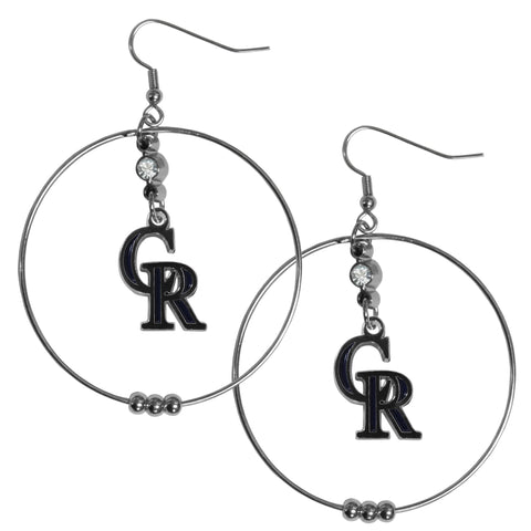 Colorado Rockies 2 Inch Hoop Earrings