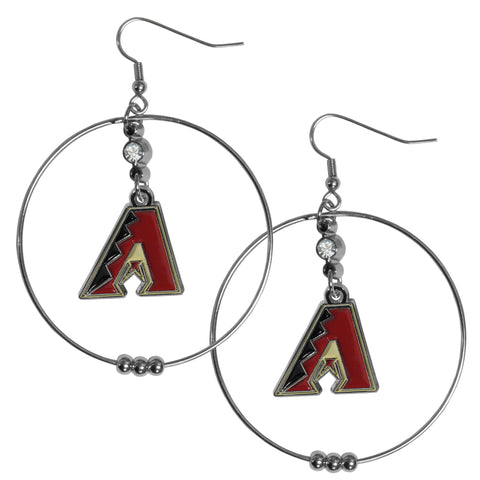 Arizona Diamondbacks 2 Inch Hoop Earrings