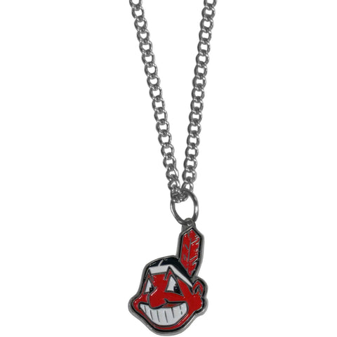 Cleveland Indians Chain Necklace with Small Charm