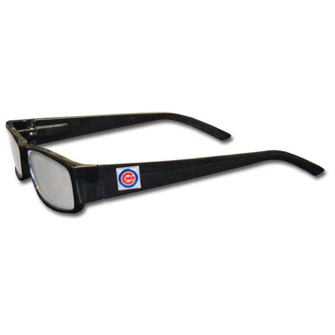 Chicago Cubs Black Reading Glasses +1.25