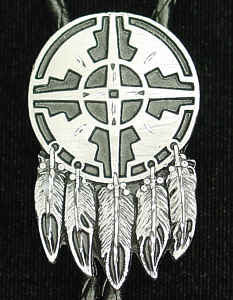 Bolo - Indian Shield (Diamond Cut)