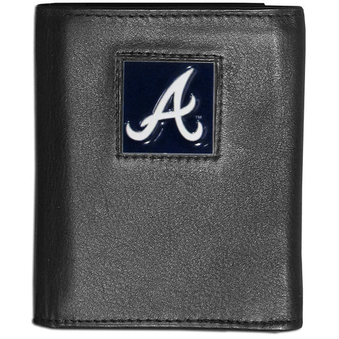 Atlanta Braves Deluxe Leather Tri-fold Wallet