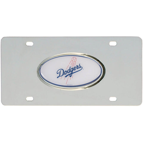 Dodgers Steel License Plate