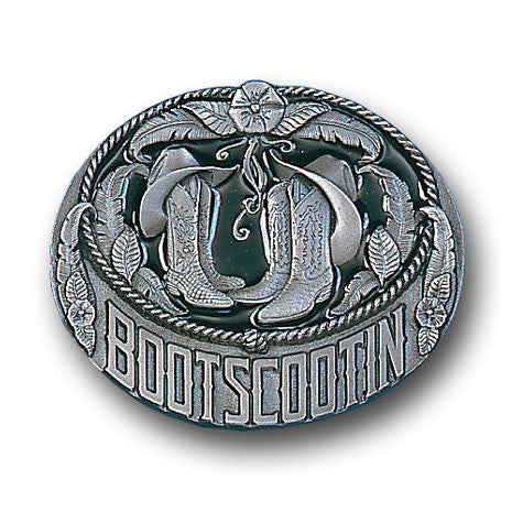 Boots Scootin Enameled Belt Buckle