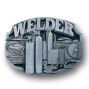 Welder Tools Enameled Belt Buckle