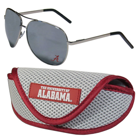 Alabama Crimson Tide Aviator Sunglasses and Sports Case