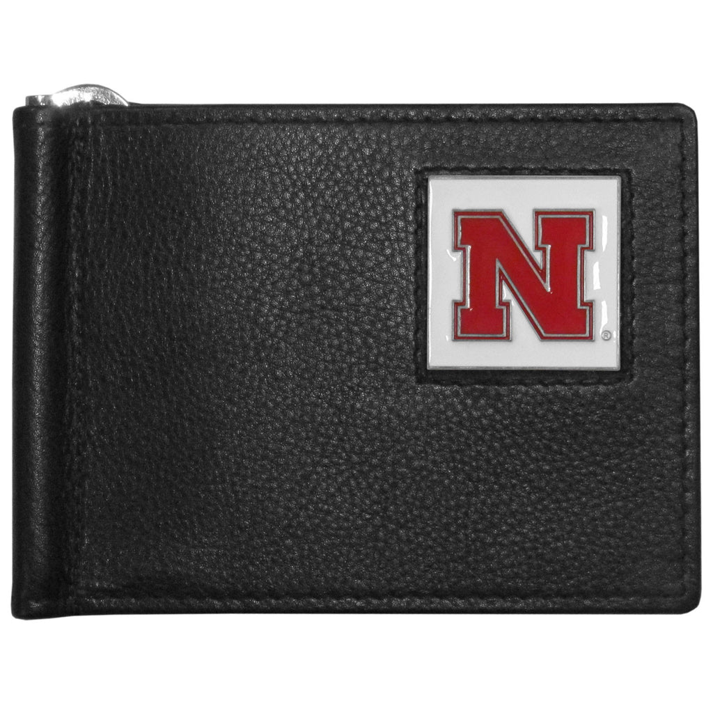 Nebraska Cornhuskers Leather Bill Clip Wallet