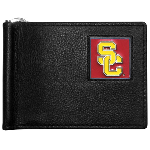 USC Trojans Leather Bill Clip Wallet