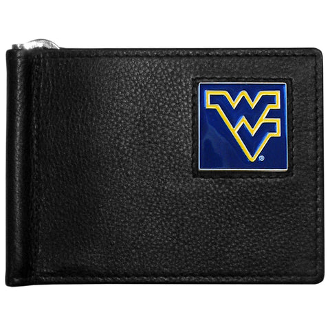 W. Virginia Mountaineers Leather Bill Clip Wallet