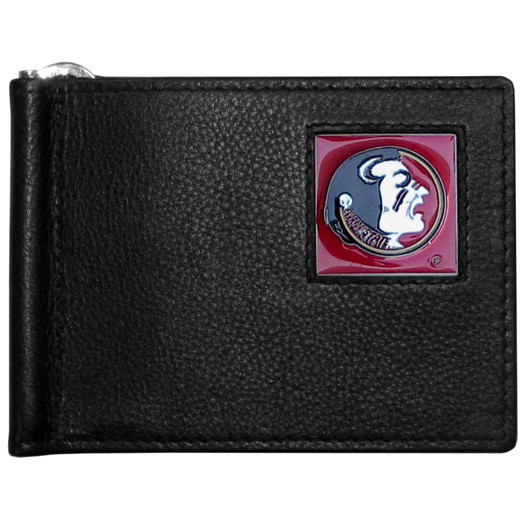 Florida St. Seminoles Leather Bill Clip Wallet
