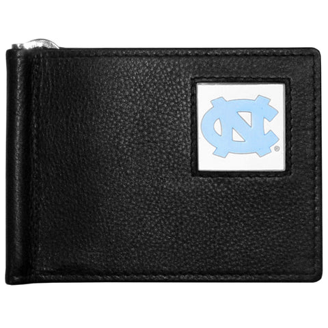 N. Carolina Tar Heels Leather Bill Clip Wallet
