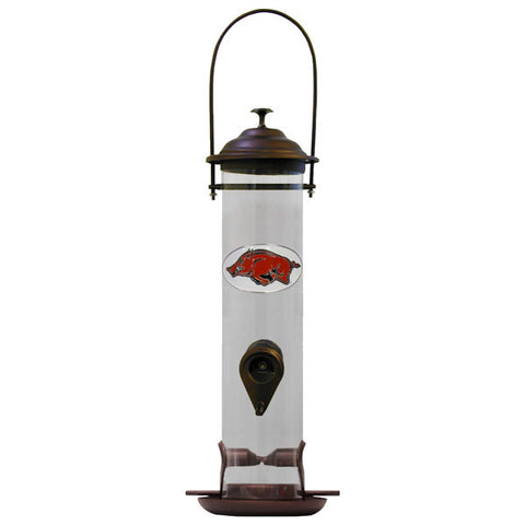 Arkansas Razorbacks Thistle Bird Feeder