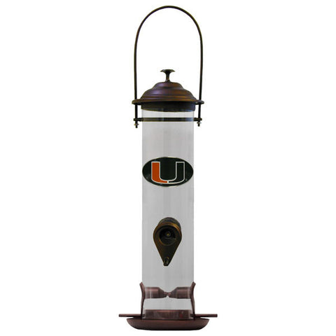 Miami Hurricanes Thistle Bird Feeder