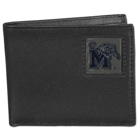 Memphis Tigers Leather Bi-fold Wallet Packaged in Gift Box