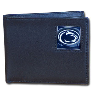 Penn St. Nittany Lions Leather Bi-fold Wallet Packaged in Gift Box