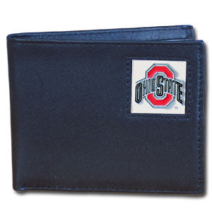 Ohio St. Buckeyes Leather Bi-fold Wallet
