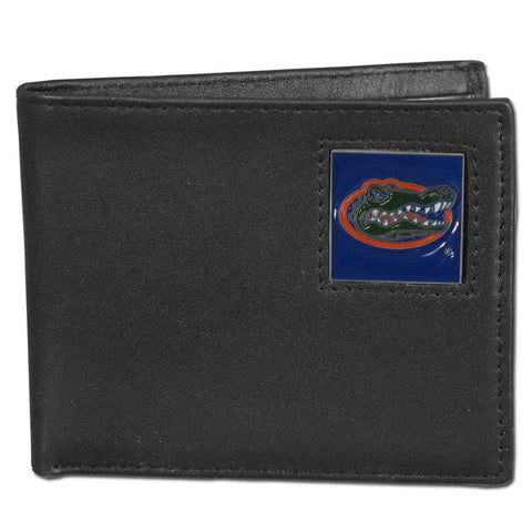 Florida Gators Leather Bi-fold Wallet Packaged in Gift Box