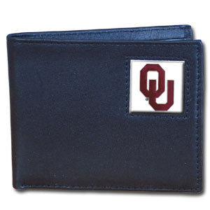 Oklahoma Sooners Leather Bi-fold Wallet