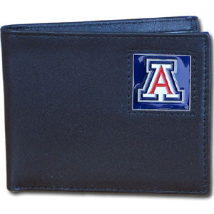 Arizona Wildcats Leather Bi-fold Wallet Packaged in Gift Box