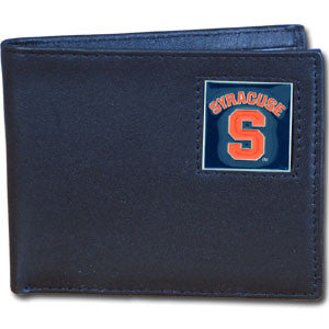 Syracuse Orange Leather Bi-fold Wallet
