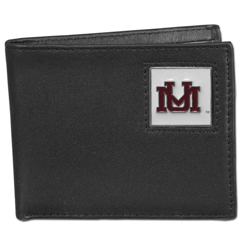 Montana Grizzlies Leather Bi-fold Wallet Packaged in Gift Box