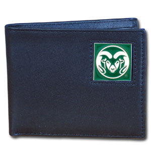 Colorado St. Rams Leather Bi-fold Wallet
