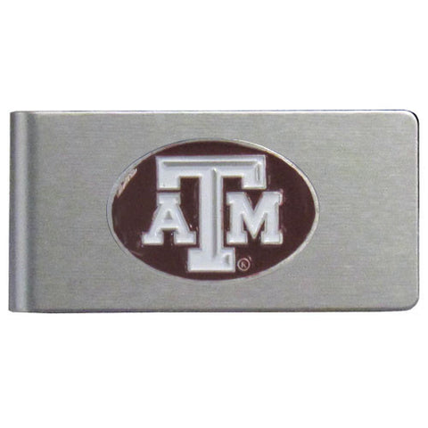 Texas A & M Aggies Brushed Metal Money Clip