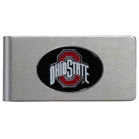 Ohio St. Buckeyes Brushed Metal Money Clip