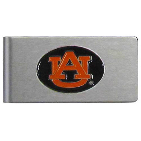 Auburn Tigers Brushed Metal Money Clip