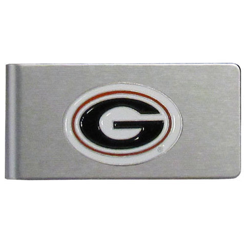 Georgia Bulldogs Brushed Metal Money Clip