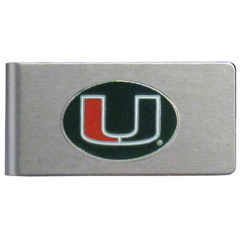 Miami Hurricanes Brushed Metal Money Clip