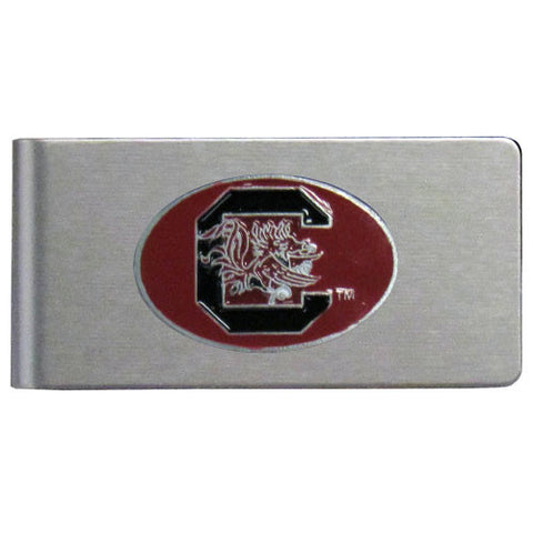 S. Carolina Gamecocks Brushed Metal Money Clip