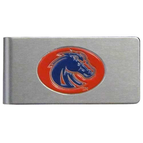 Boise St. Broncos Brushed Metal Money Clip