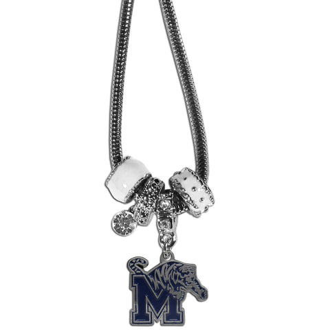 Memphis Tigers Euro Bead Necklace