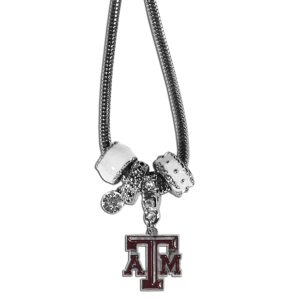 Texas A & M Aggies Euro Bead Necklace