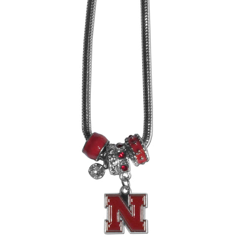 Nebraska Cornhuskers Euro Bead Necklace