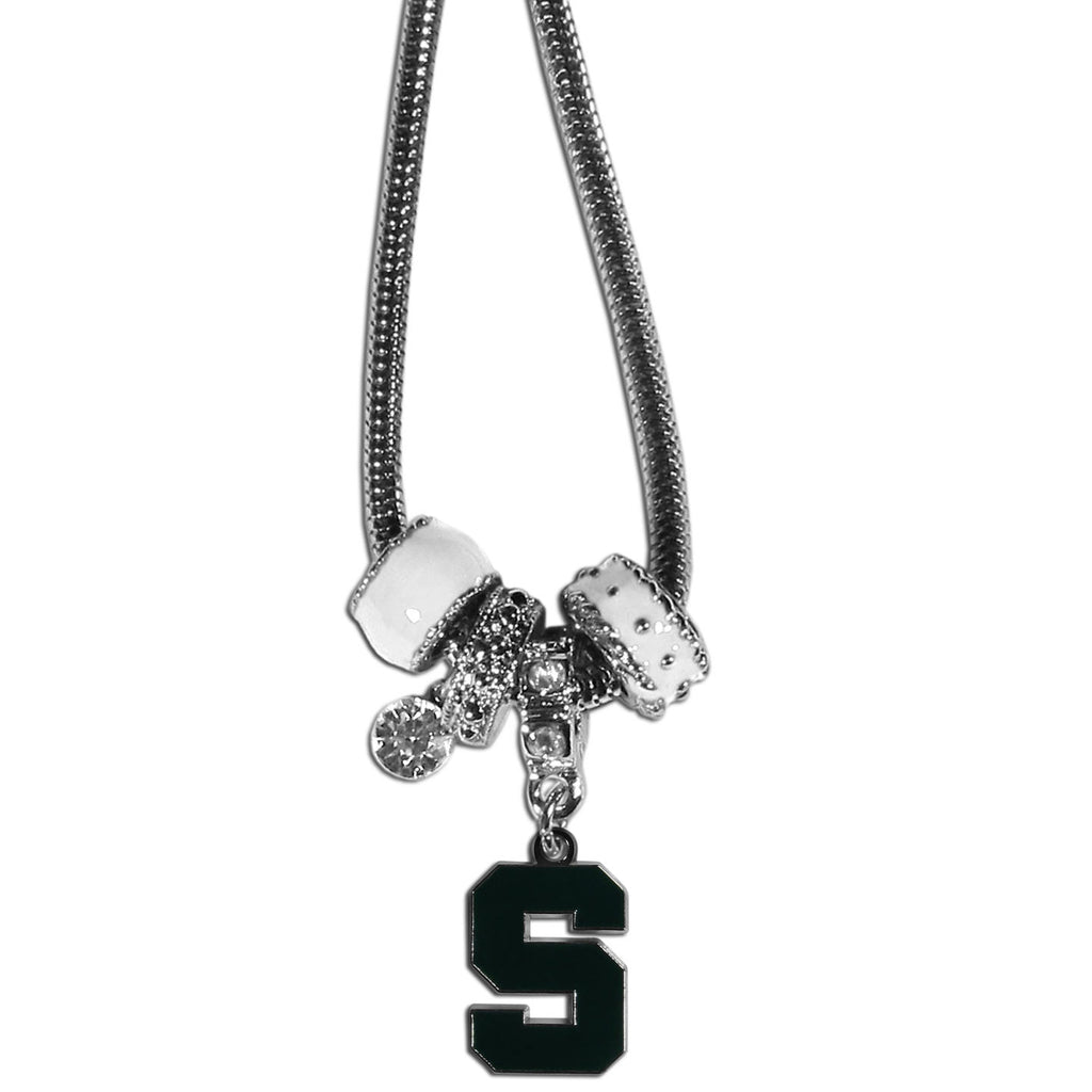 Michigan St. Spartans Euro Bead Necklace