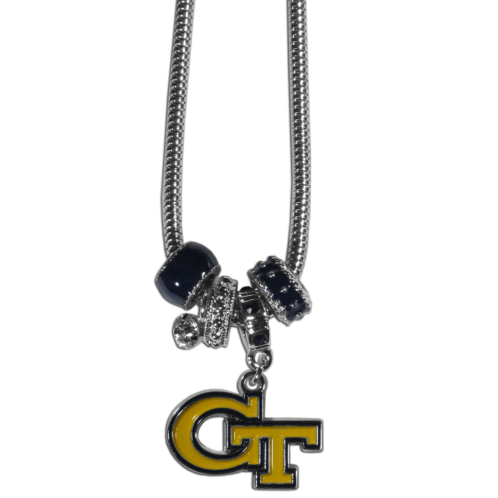 Georgia Tech Yellow Jackets Euro Bead Necklace