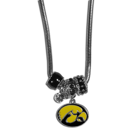 Iowa Hawkeyes Euro Bead Necklace