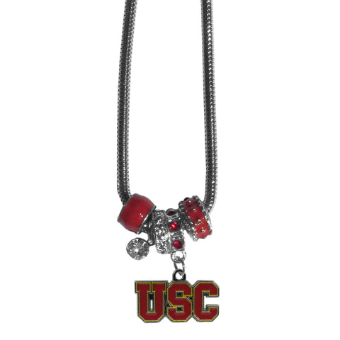 USC Trojans Euro Bead Necklace