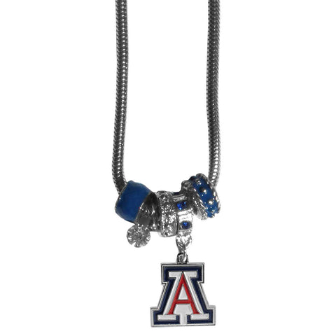 Arizona Wildcats Euro Bead Necklace