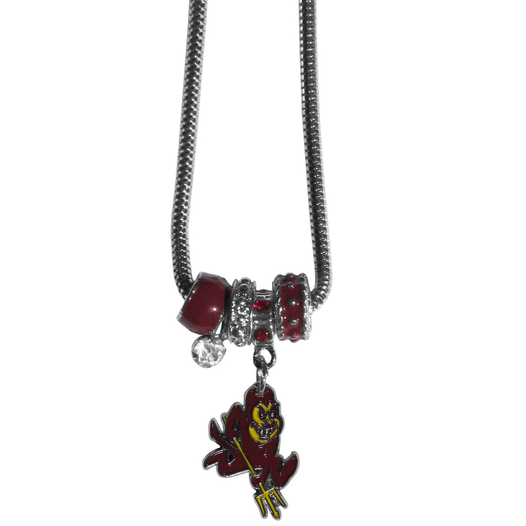 Arizona St. Sun Devils Euro Bead Necklace