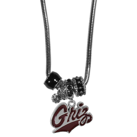 Montana Grizzlies Euro Bead Necklace