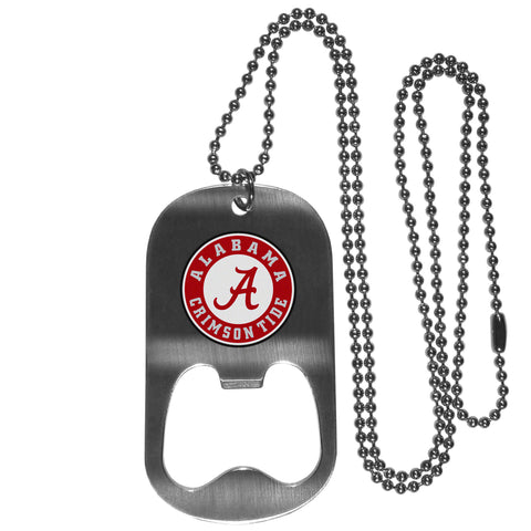 Alabama Crimson Tide Bottle Opener Tag Necklace