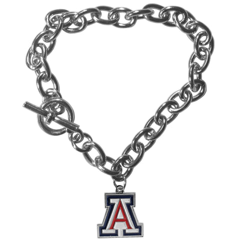 Arizona Wildcats Charm Chain Bracelet