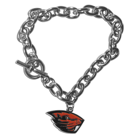 Oregon St. Beavers Charm Chain Bracelet