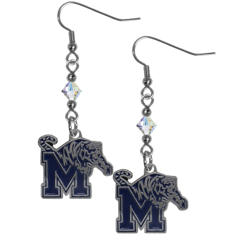Memphis Tigers Crystal Dangle Earrings